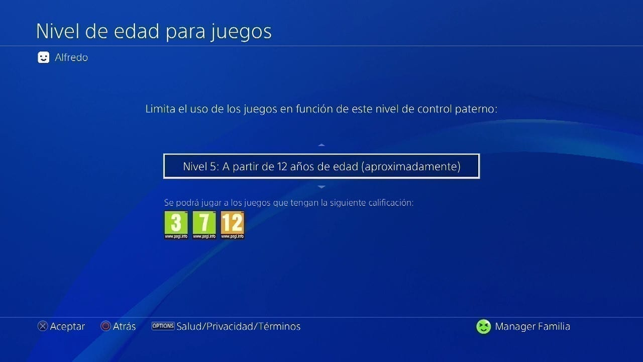 control parental sony playstation